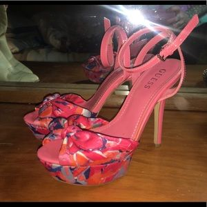 Pink Guess high heels.cute & sexy.size 6.5/ 7.